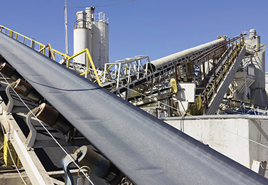Analysis of rubber conveyor belt in the...